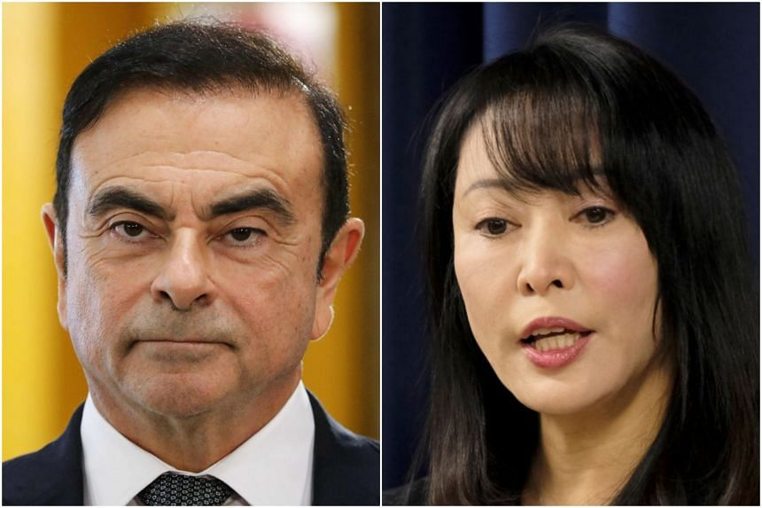 """Japanese justice minister Masako Mori confirmed that Carlos Ghosn's bail has already been cancelled and that an Interpol """"red notice"""" had been issued."""