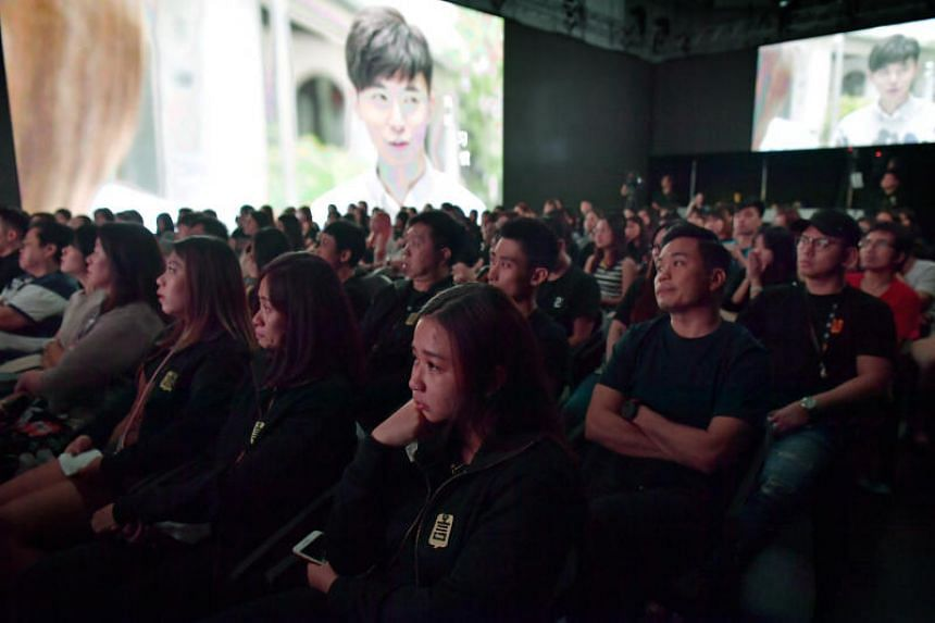 Sniffles could be heard as clips of Aloysius Pang's funeral played in the hall as the memorial event for the late actor began on Sunday (Jan 5). Pang's father also appeared briefly in a clip to thank the public for their support for his son.