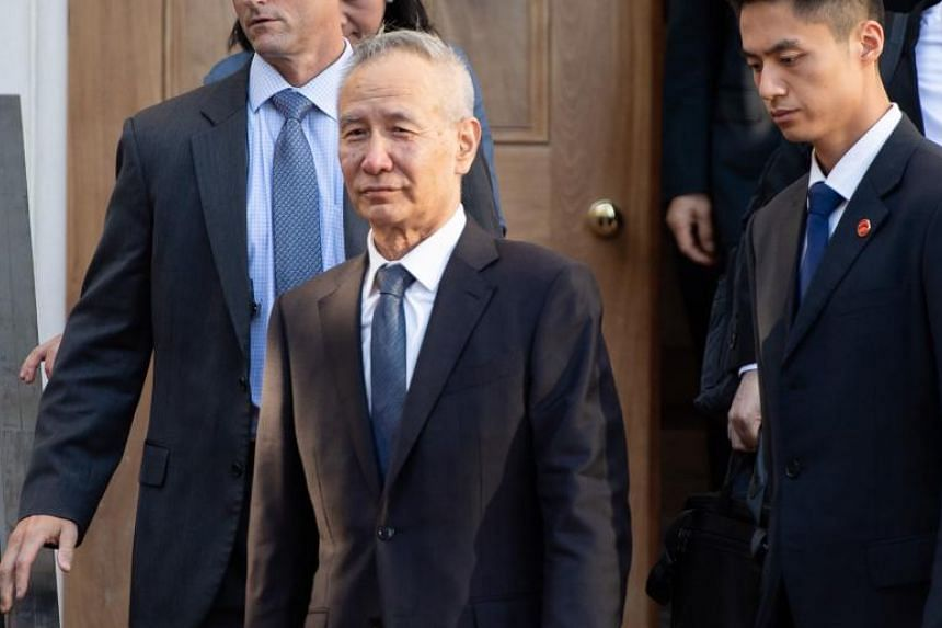 In this file photo, Chinese Vice Premier Liu He is seen departing trade talks in Washington on Oct 10, 2019.