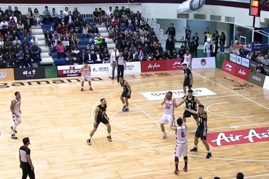 The Singapore Slingers and Formosa Dreamers in action during an Asean Basketball League game in Taiwan on Jan 5, 2020.