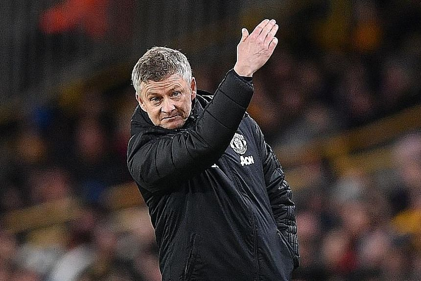 Ole Gunnar Solskjaer visibly annoyed at proceedings during Manchester United's FA Cup third round 0-0 draw against Wolves on Saturday. But he is thankful to be still in contention for silverware.