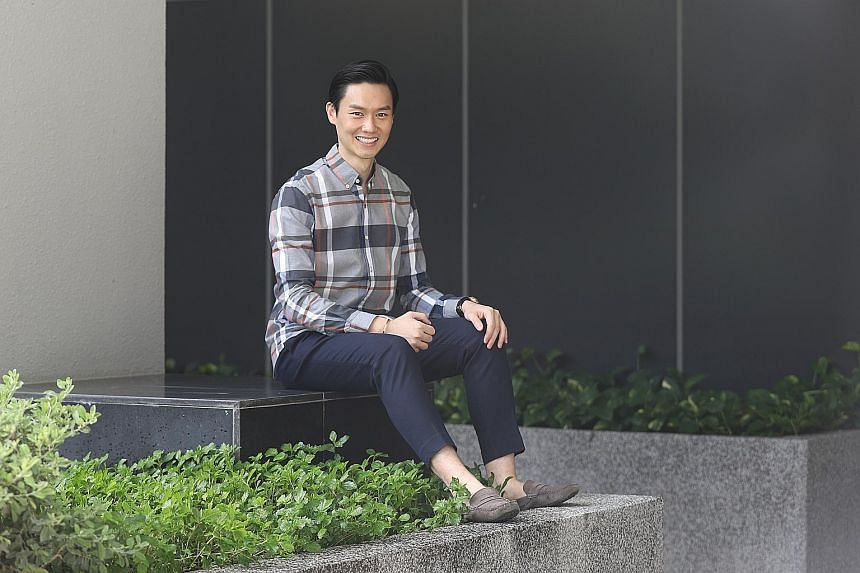 NUS alumnus Ng Jinsheng, 35, co-founder of two start-ups, has taken modules to learn more about data analytics, urban transport policy, data science and intellectual property, topics related to his job. ST PHOTO: MARCELLIN LOPEZ