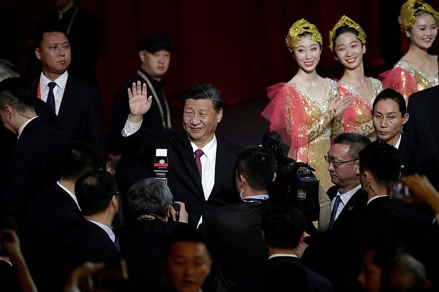 Chinese President Xi Jinping at a cultural performance in Macau last Dec 19, the eve of the 20th anniversary of the former Portuguese colony's return to China. Before Mr Xi, only Mao Zedong, who founded the People's Republic of China, had been called