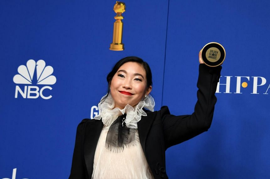 Actress Awkafina became the first Asian-American to win a Globe in a lead actress film category, for her role in The Farewell.