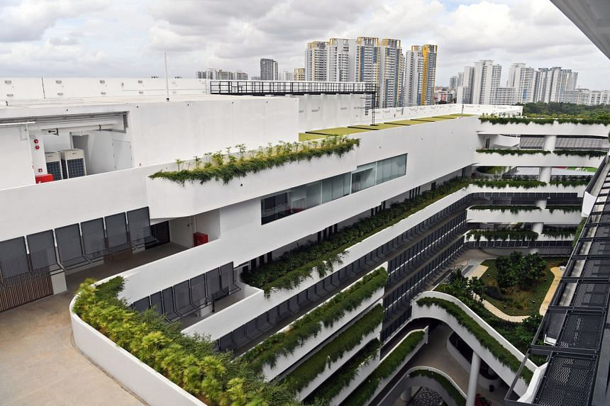 Eunoia Junior College's new Bishan campus comprises a 10-storey and 12-storey academic block, and a five-storey student activities block.