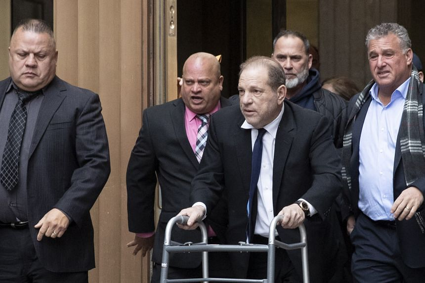 Harvey Weinstein, with the aid of a walker, leaving court following a hearing in New York last month.