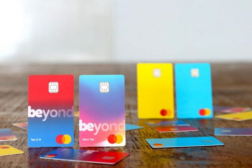 Prototypes of credit cards for retail and SME banking, as envisioned by the Beyond consortium, as part of its application for the digital full bank licence.