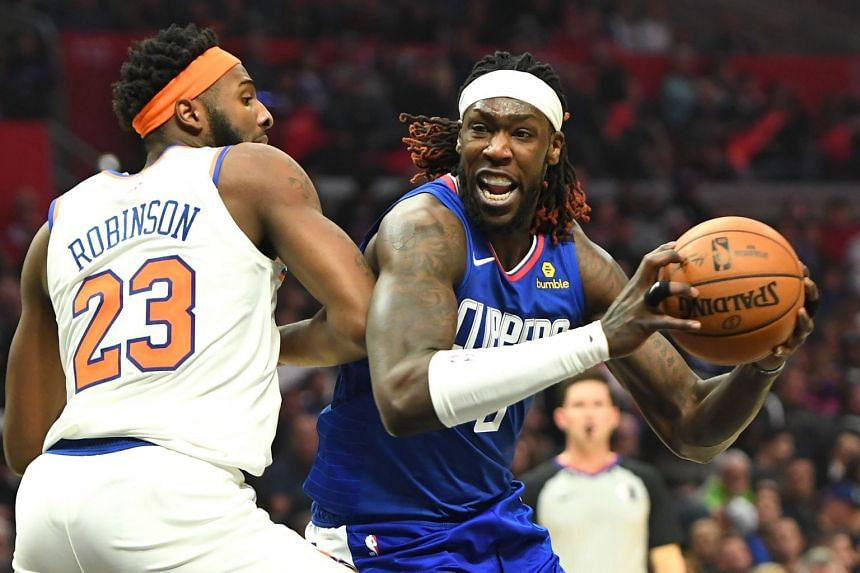 Los Angeles Clippers' Montrezl Harrell (right) in action against the New York Knicks, on Jan 5, 2020.