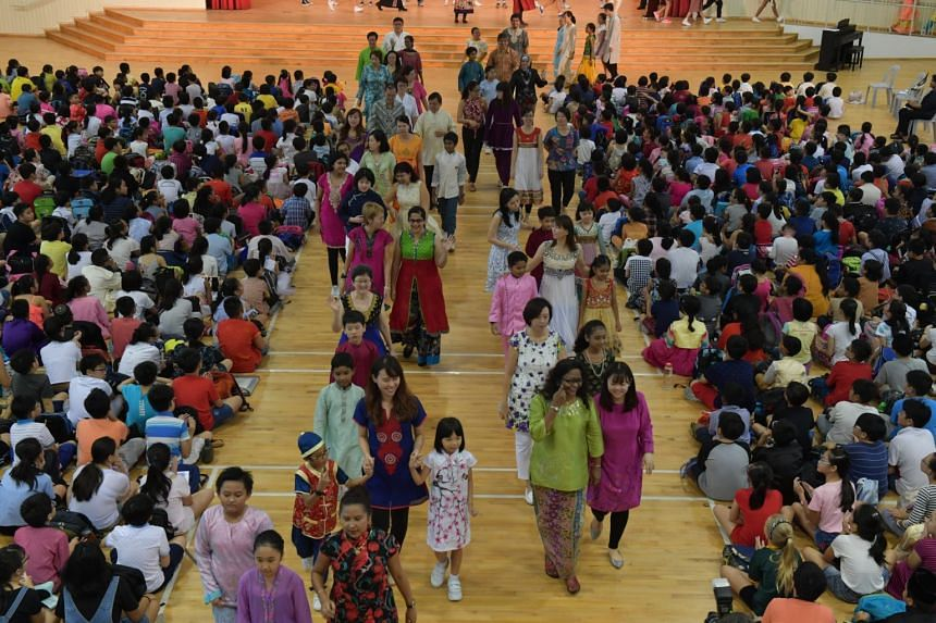 Guangyang Primary School commemorates Racial Harmony Day.