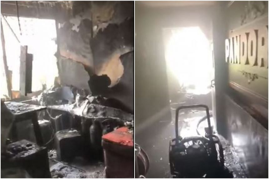 "The Singapore Civil Defence Force said it received a call at 11.15am about a fire ""raging with flames and black smoke"" at Pandora Club and KTV on Jan 6, 2020."