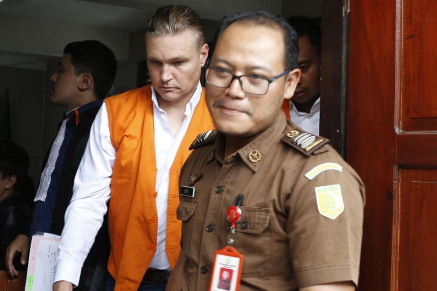 David Van Iersel, one of the two Australians sentenced, after his court trial in Bali on Jan 6, 2020.