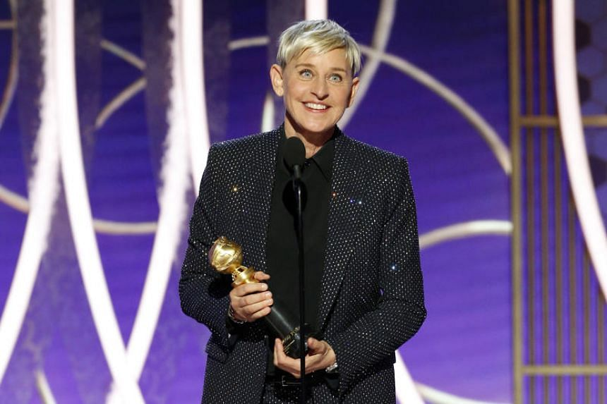 Ellen DeGeneres is the second person to receive the Carol Burnett Award, the Golden Globes' fairly new lifetime achievement accolade for television.