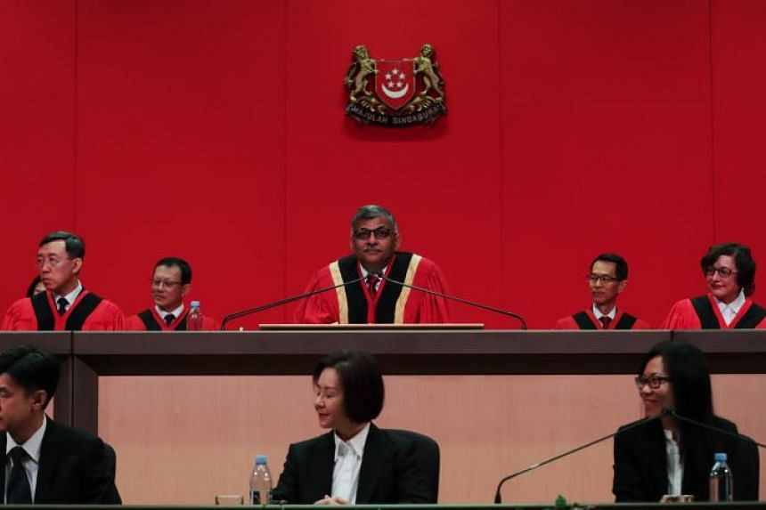 Chief Justice Sundaresh Menon at the opening ceremony for the new legal year on Jan 6, 2020.