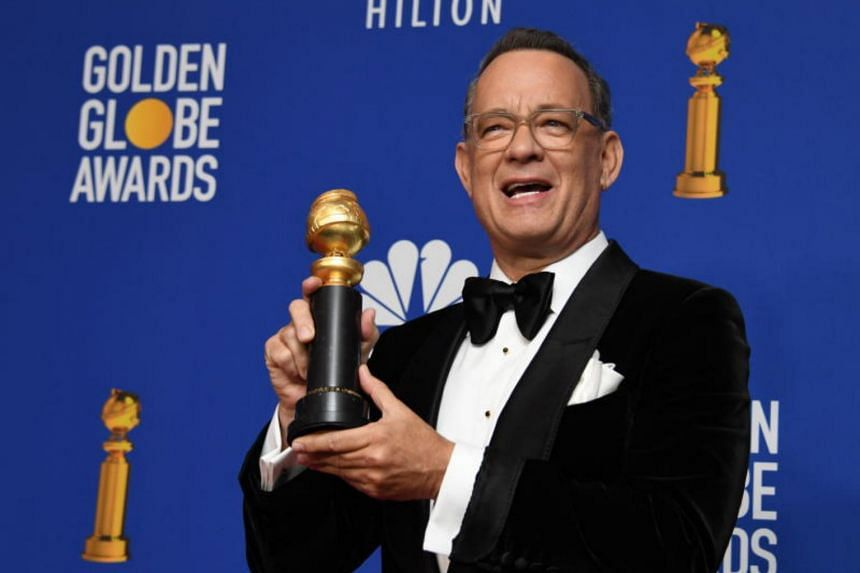 Actor Tom Hanks, this year's recipient of the Cecil B. DeMille lifetime achievement award, is a four-time Golden Globes winner.