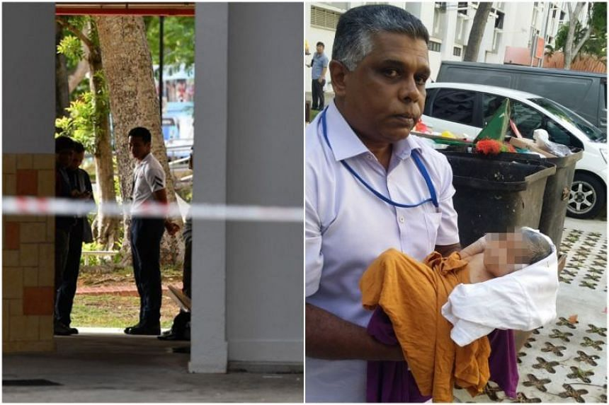 Baby found alive in Bedok North block rubbish chute bin, Singapore