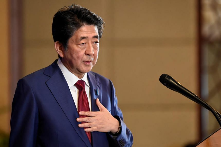 Japan's Prime Minister Shinzo Abe speaks during a news conference in Chengdu, China, on Dec 24, 2019.