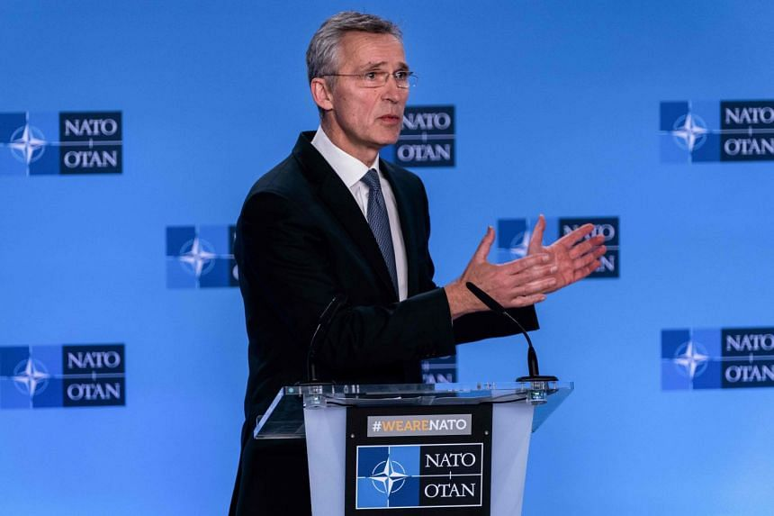Nato Secretary-General Jens Stoltenberg speaks at a press conference at the alliance's headquarters in Brussels, on Jan 6, 2020.