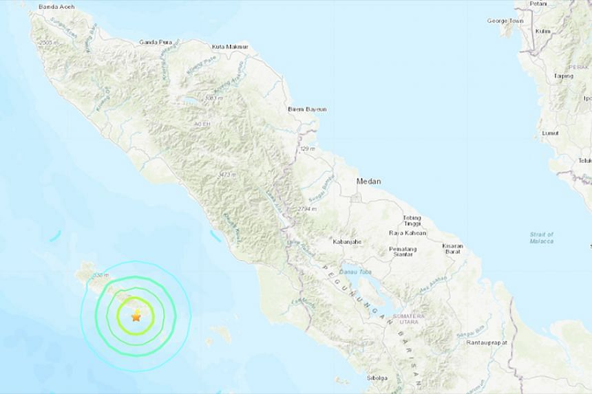 The Indonesian meteorology and geophysics agency said the quake did not have the potential to trigger a tsunami.