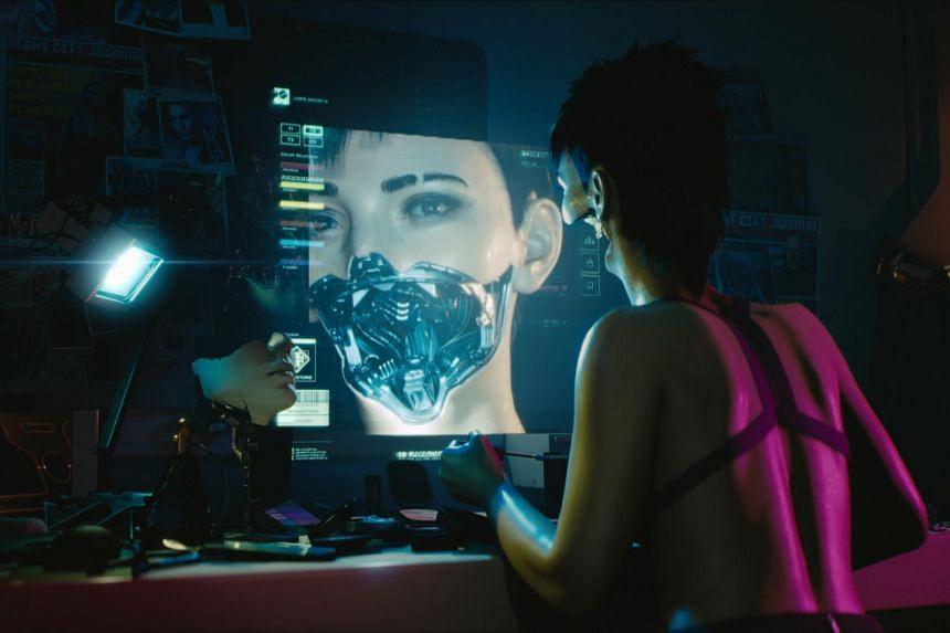 Screenshots from the Cyberpunk 2077 video game.