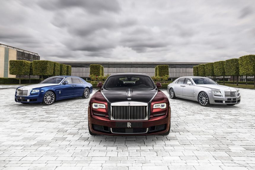 """A photo of the Ghost Zenith Collection. Rolls-Royce Motor Cars reported """"significant sales growth"""" in every one of its key global markets."""
