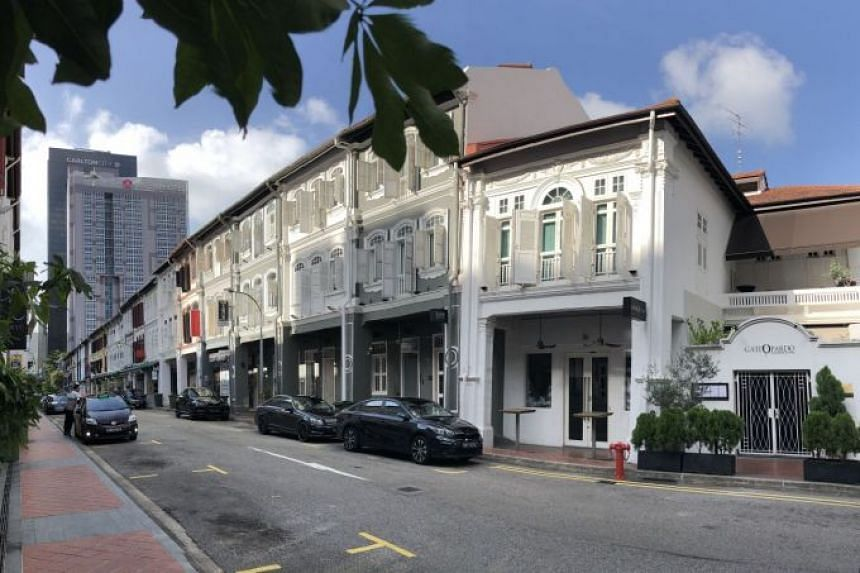 Both three-storey shophouses with attic have 99-year leases and are fully leased to food and beverage operators on the ground floor and small office/home office users on the upper floors.