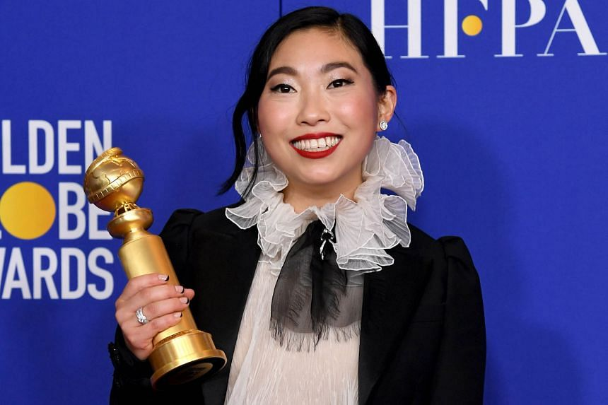 South Korean Bong Joon-ho (left), 50, helped make history by directing and co-writing Parasite, the satire on social class that won Best Foreign Language Film - the first South Korean movie to triumph at the Golden Globe Awards. Awkwafina, 31 (real n