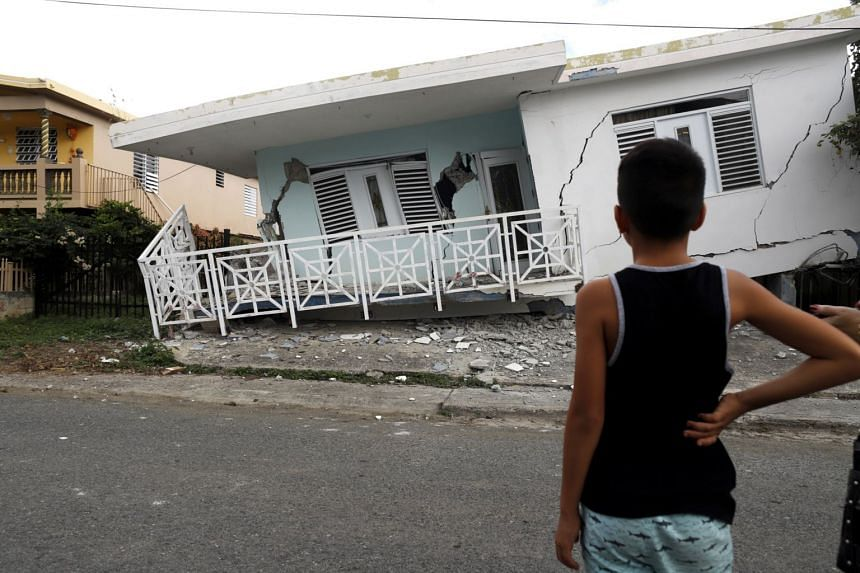 The latest earthquake followed a 5.8-magnitude earthquake off the island's southern coast on Jan 6, which damaged homes (pictured).