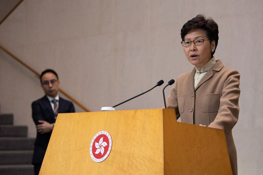 Hong Kong's leader Carrie Lam devoted her opening comments to addressing the government's response measures to the pneumonia outbreak during a press briefing on Jan 7, 2020.