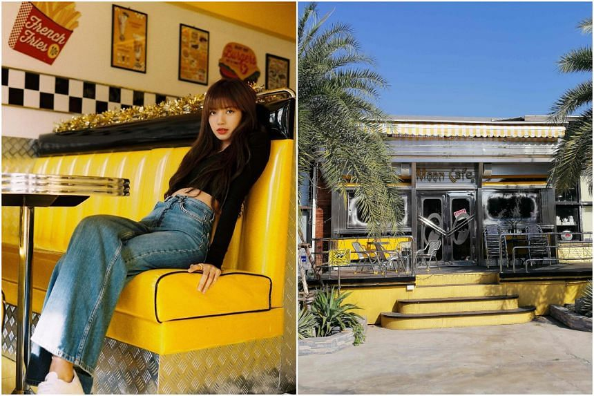 Blackpink singer Lisa had done a photo shoot at the cafe and the owner was keen to sell stuff such as cups, napkins and even a toilet seat.