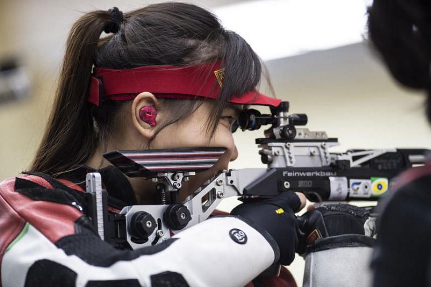 Singapore's Ho Xiu Yi in action at the 2019 SEA Games.