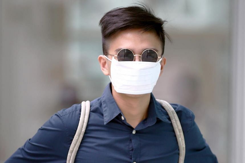 """Tan Jin Kang pleaded guilty to possessing the prohibited device at the spot, which had been declared a """"special event area"""" under the Public Order Act."""