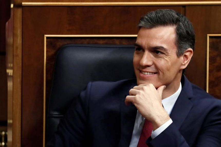 Socialist leader Pedro Sanchez had 167 lawmakers backing him and 165 against, to win a decisive second round of voting.