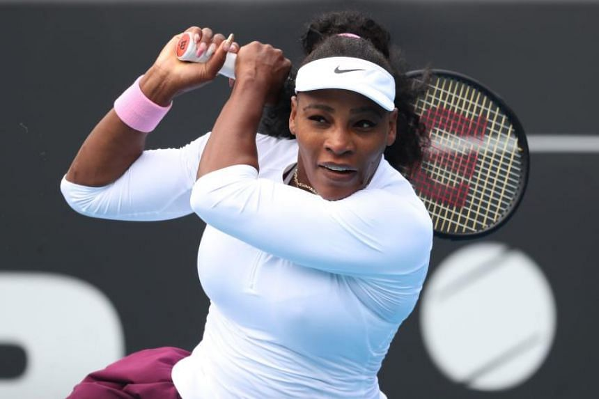 Serena Williams achieved a 6-3, 6-2 victory, in her first singles match since losing last year's US Open final, in Auckland on Jan 7, 2020.