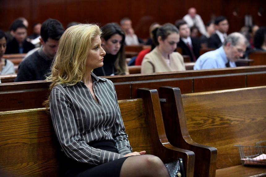 A 2017 photo shows Summer Zervos appearing in the New York State Supreme Court during a hearing on a defamation case against US President Donald Trump.