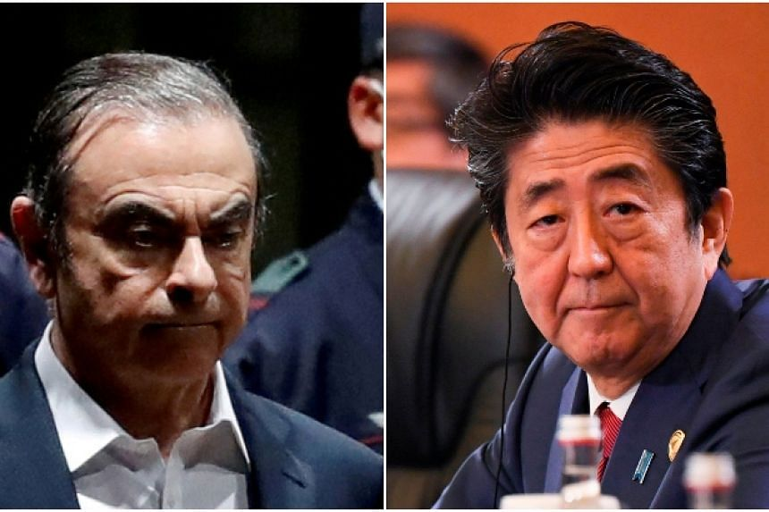 According to public broadcaster NHK, Carlos Ghosn met up with collaborators at the Grand Hyatt in Roppongi on Dec 29. About an hour after he left the hotel, Japan PM Shinzo Abe arrived for his annual New Year break.