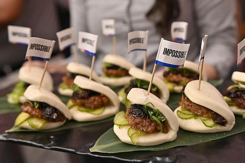 Impossible Pork bun samples during a press event for CES 2020 in Las Vegas on Monday.