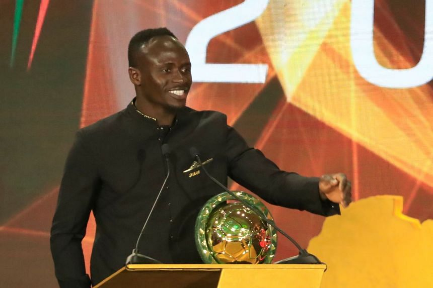 Mane speaks after winning the Player of the Year award.
