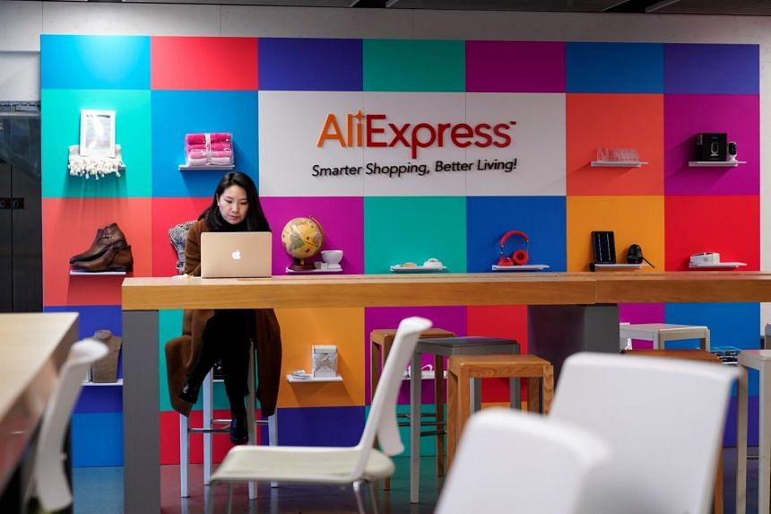 The logo of AliExpress is seen at Alibaba Expansion office at the Alibaba company's headquarters in China on Nov 18, 2019.