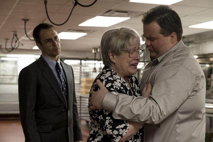 (From left) Sam Rockwell, Kathy Bates and Paul Walter Hauser in a scene from Richard Jewell.