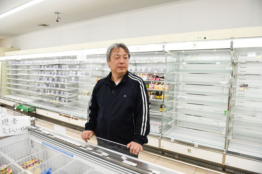 Mr Mitoshi Matsumoto at his 7-Eleven franchise in Japan on Jan 4, 2020.