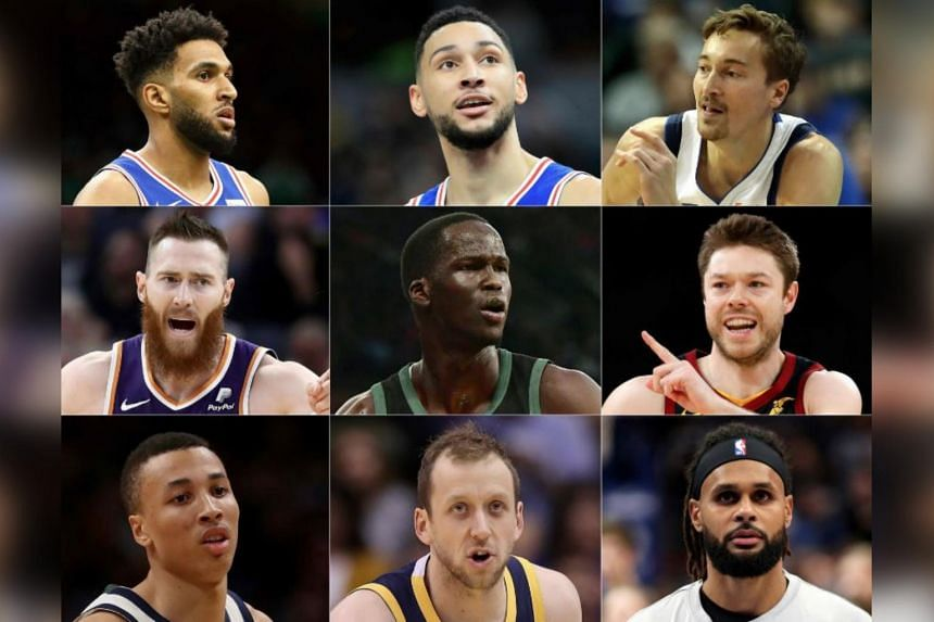 (Left to right, top to bottom) Jonah Bolden, Ben Simmons, Ryan Broekhoff, Aron Baynes, Thon Maker, Matthew Dellavedova, Dante Exum, Joe Ingles and Patty Mills make up the group that partnered the NBA and players' association.