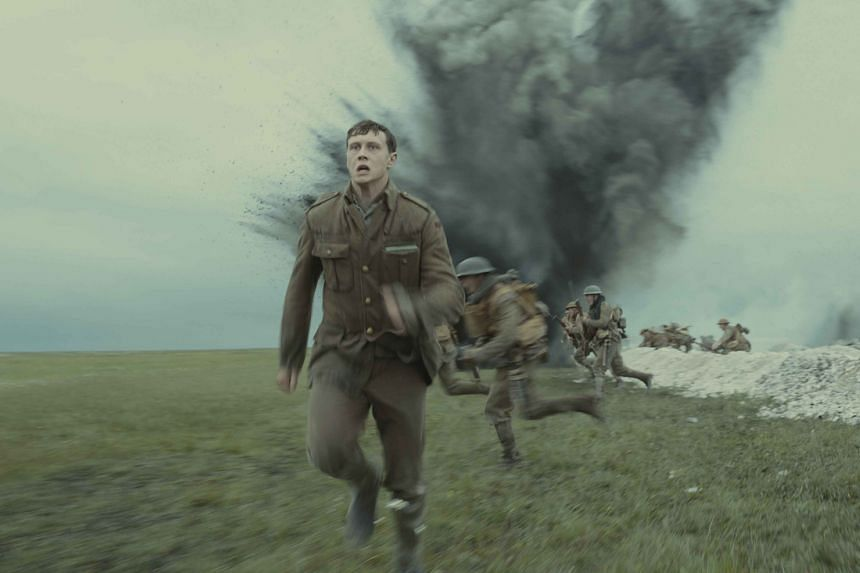 Still from the film 1917 featuring George MacKay.