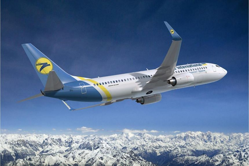 A file picture of a plane belonging to Ukraine International Airlines.