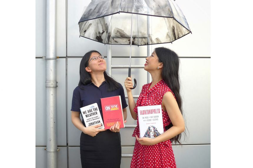 The Straits Times journalists Toh Wen Li (left) and Olivia Ho.