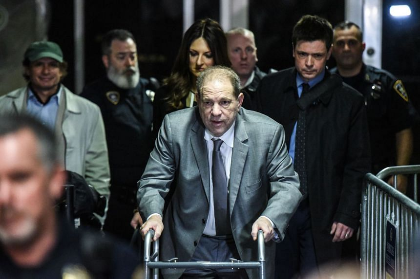 Weinstein leaves the courtroom at the New York City criminal court on Jan 7, 2020.