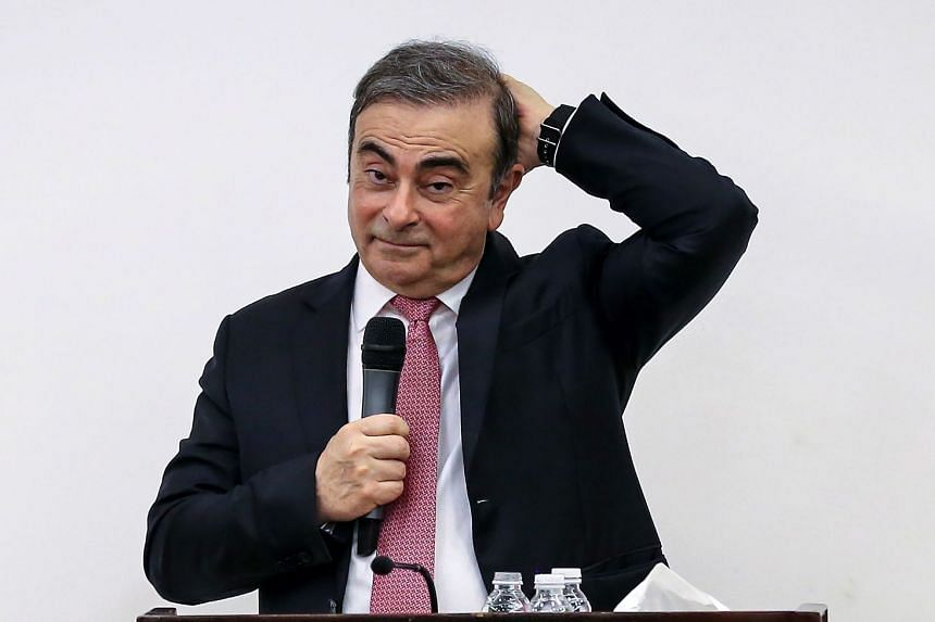 Ghosn speaks during a press conference in Beirut, Jan 8, 2020.