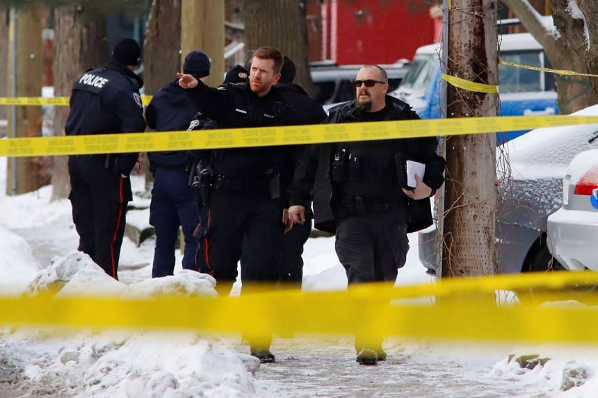 Police investigate a shooting incident in Ottawa, Canada.