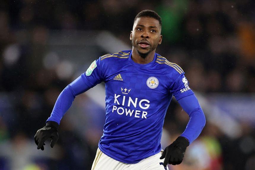 Leicester City's Kelechi Iheanacho celebrates scoring.