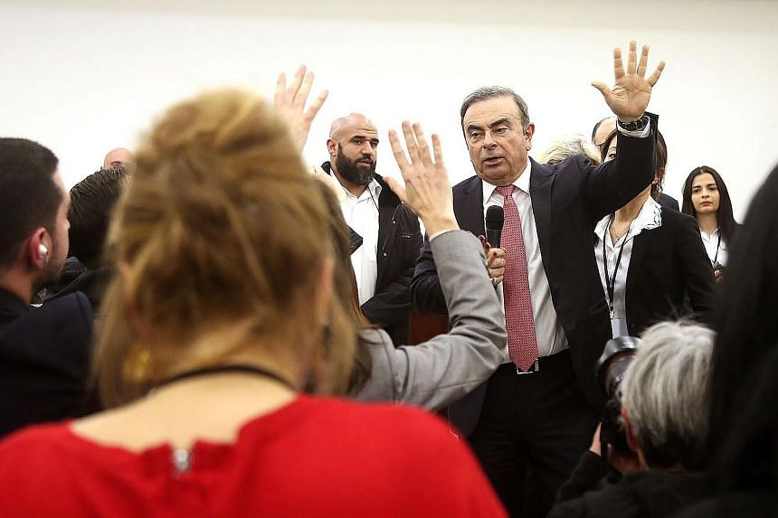 The case in which Carlos Ghosn allegedly hid while fleeing Japan for Lebanon, via Turkey. His flight from Japan last month marked the latest twist in a saga that began with his stunning arrest at Tokyo's Haneda airport in November 2018. PHOTO: AGENCE