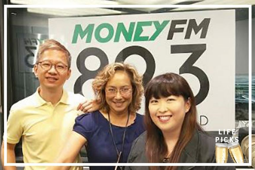 Money FM's Claressa Monteiro (centre) chats with ST assistant Life editor Boon Chan (left) and STFood online editor Hedy Khoo (right) about their picks for the week.